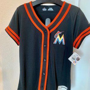 Miami Marlins Womens Official MLBaseball Jersey